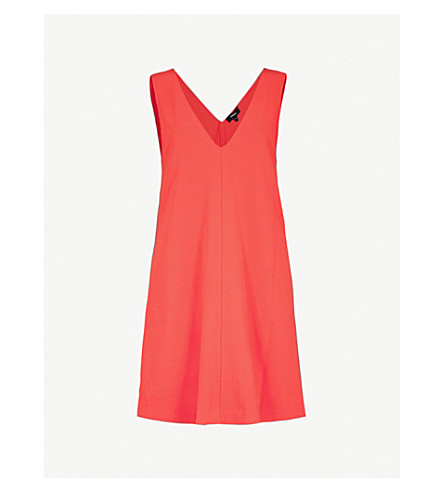 THEORY V-neck crepe dress (Tomato