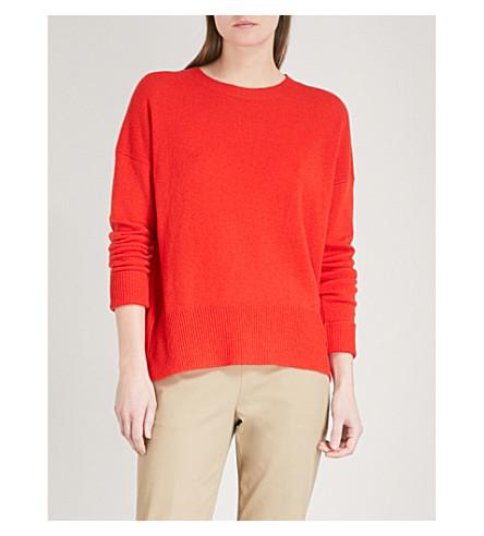THEORY Karenia cashmere jumper (Bright+tomato