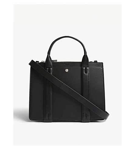 THEORY West mini leather tote (Black