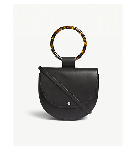 THEORY Whitney leather shoulder bag (Black