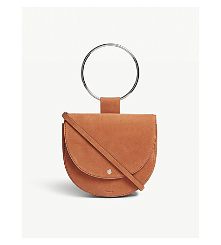 THEORY Whitney suede shoulder bag (Orange