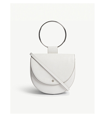 THEORY Whitney leather shoulder bag (White