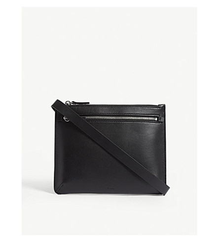 THEORY Leather belt bag (Black