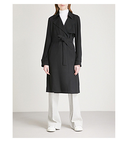 THEORY Oaklane crepe trench coat (Black