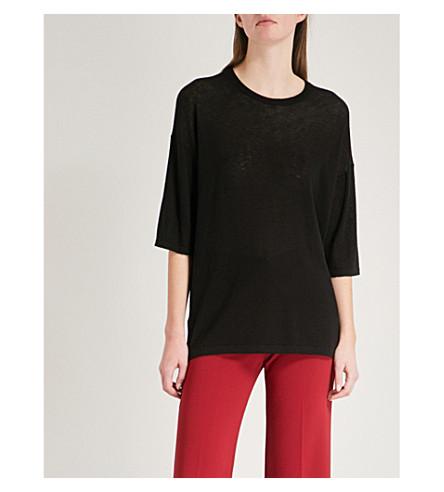 THEORY Boyfriend-fit cashmere T-shirt (Black