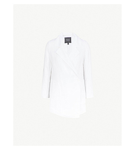 THEORY Clairene linen and cotton-blend jacket (White