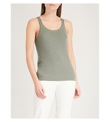 THEORY Windelle sleeveless cashmere tank (Faded+army