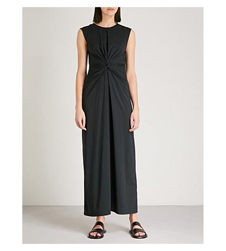 THEORY Knot-detail stretch-jersey dress (Black