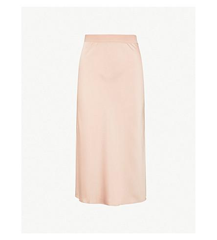 THEORY Slip silk skirt (Tart pink - wga
