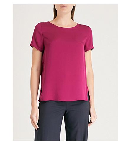 satén TEORÍA rosa seda color de v8a con Camiseta lateral eléctrico de división rw4wE1B
