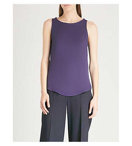 top silk silk top Plum vip Modern Plum THEORY THEORY purple Modern pa4qq