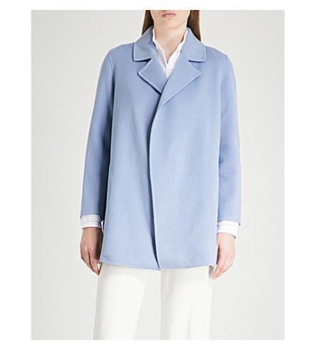 de TEORÍA y uva chaqueta abierto Clairene con y lana cachemir frente niebla de EEq46