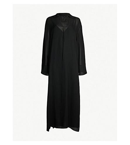 THEORY Sailor silk maxi dress (Black