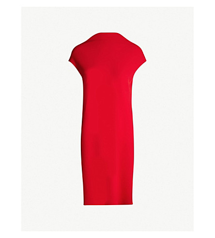 THEORY Draped crepe sheath dress (Peppercorn