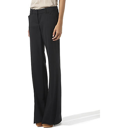 THEORY Wide leg trousers (Black