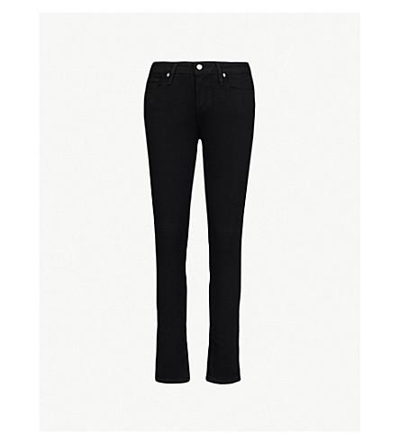PAIGE Skyline Ankle Peg skinny mid-rise jeans (Black+shadow