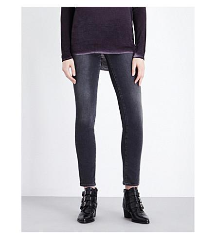 PAIGE DENIM Skyline mid-rise skinny jeans (Smoke+grey