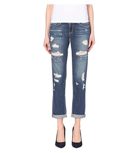 PAIGE DENIM Jimmy Jimmy skinny boyfriend mid-rise jeans (Willa destructed