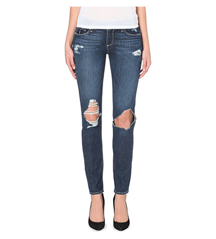PAIGE DENIM Jimmy Jimmy distressed skinny mid-rise jeans (Connor