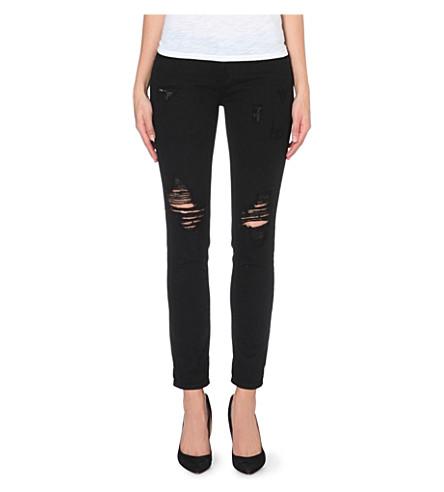 PAIGE DENIM Jimmy Jimmy skinny boyfriend mid-rise jeans (Obsidian