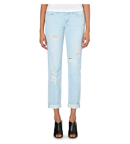 PAIGE DENIM Jimmy Jimmy slim-fit boyfriend mid-rise jeans (Powell destructed