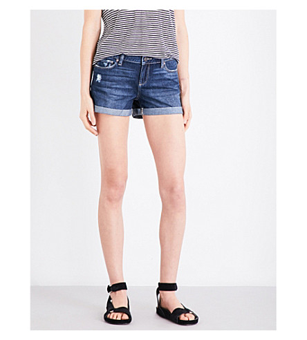 PAIGE DENIM Jimmy Jimmy distressed denim shorts (Atticus
