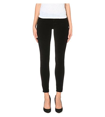 PAIGE DENIM Verdugo velvet skinny mid-rise jeans (Black