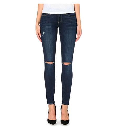PAIGE DENIM Verdugo super-skinny mid-rise stretch-denim jeans (Lange