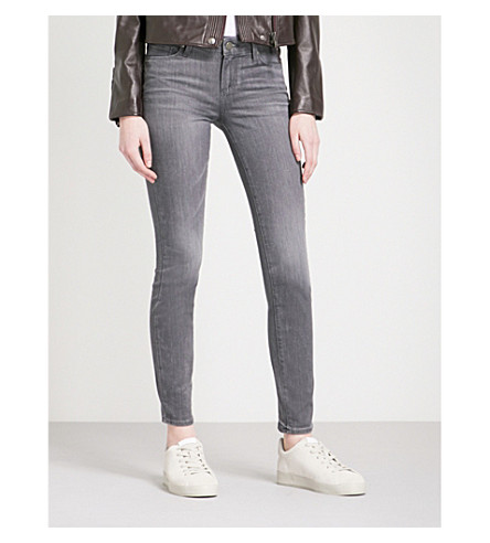 PAIGE Verdugo ultra-skinny high-rise jeans (Watson+grey