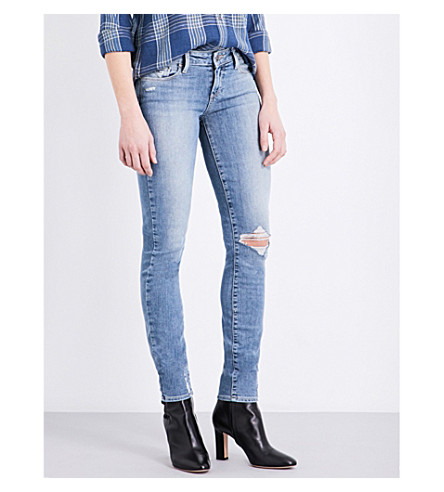 PAIGE DENIM Verdugo skinny low-rise jeans (Pryor+destructed