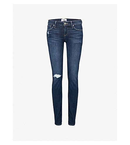 PAIGE Verdugo ripped ultra-skinny mid-rise jeans (Bellmont+desstructed