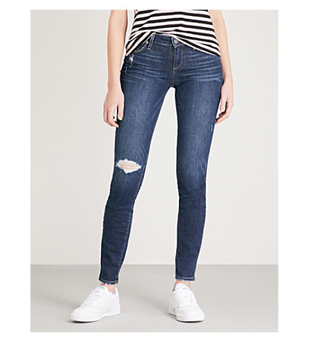 PAIGE Verdugo distressed ultra-skinny mid-rise jeans (Bellmont+desstructed