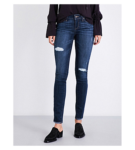 PAIGE DENIM Verdugo ultra skinny mid-rise jeans (Clearly+destructed