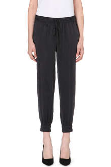 PAIGE DENIM Jayden washed-silk trousers