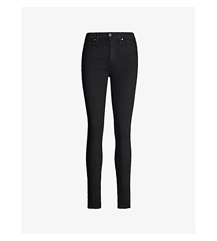 PAIGE DENIM Hoxton skinny mid-rise jeans (Black+shadow