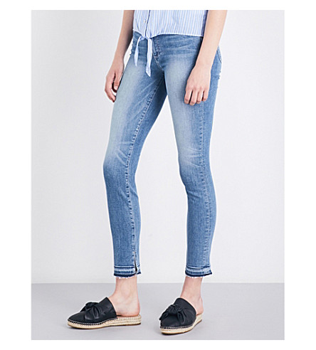 PAIGE DENIM Hoxton released-hem skinny ankle-peg high-rise jeans (Wilson