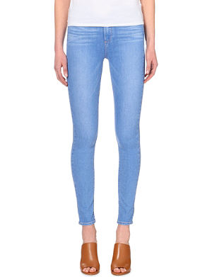 PAIGE DENIM Hoxton high-rise ultra-skinny faded jeans