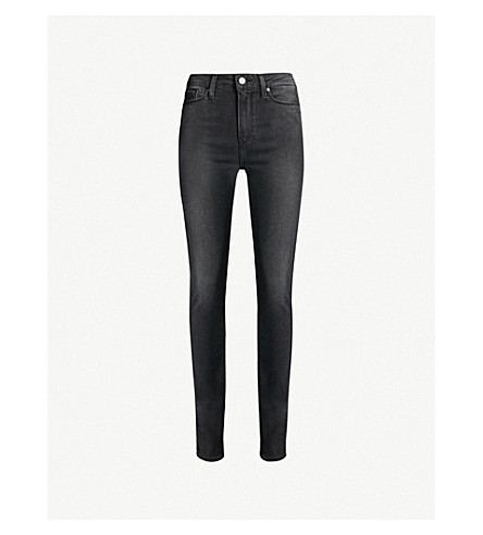 PAIGE Hoxton skinny high-rise jeans (Smoke+grey