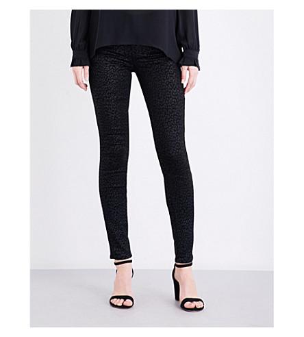 PAIGE DENIM Hoxton metallic leopard-print super-skinny high-rise jeans (Metallic+leopard+noir