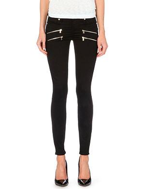 PAIGE DENIM Edgemont skinny zip jeans