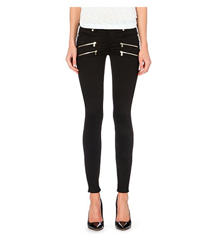PAIGE DENIM Edgemont skinny zip jeans (Noir