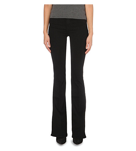 PAIGE DENIM Bell canyon high-rise mid-rise jeans (Black+shadow