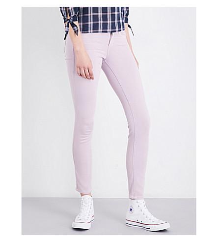 PAIGE DENIM Verdugo mid-rise skinny jeans (Pale+mauve