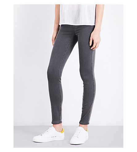 PAIGE Verdugo skinny cropped mid-rise jeans (Coal+grey