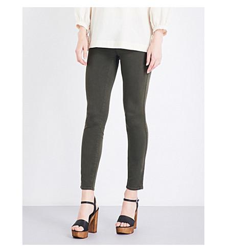 PAIGE DENIM Verdugo ultra-skinny cropped mid-rise jeans (Deep+juniper