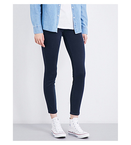 PAIGE Verdugo skinny mid-rise jeans (Navy+elipse