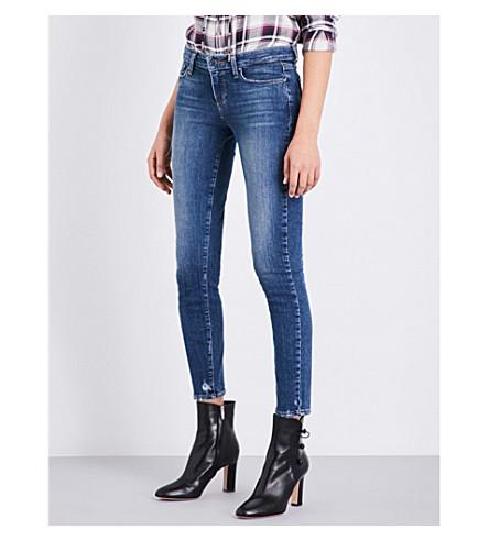 PAIGE DENIM Verdugo raw-hem skinny mid-rise jeans (Nash
