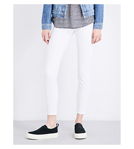 PAIGE Hoxton Ankle skinny high-rise jeans (Optic+white