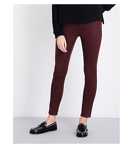 PAIGE Hoxton Ankle coated skinny mid-rise jeans (Rouge+luxe+coating