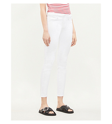 PAIGE Verdugo Ankle ultra-skinny mid-rise jeans (Ultra+white